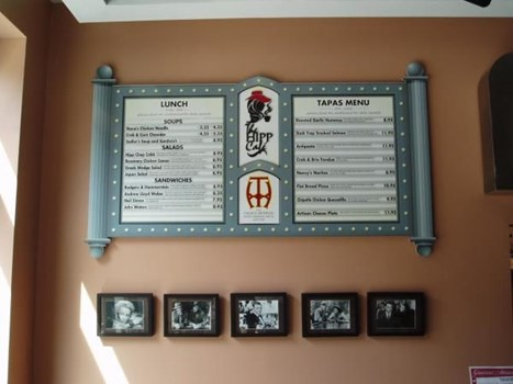 MENU002 - Custom Menu Sign for Restaurant