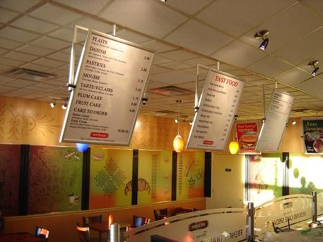 MENU012 - Custom Menu Sign for Restaurant